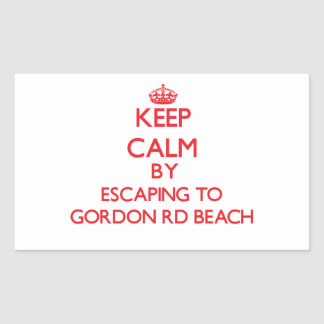 Keep calm by escaping to Gordon Rd Beach Michigan Rectangular Stickers