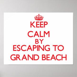 Keep calm by escaping to Grand Beach Michigan Print