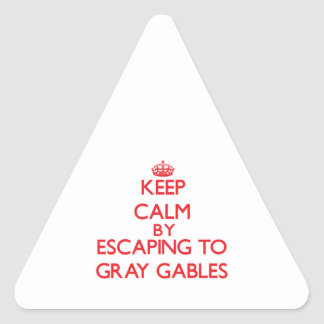 Keep calm by escaping to Gray Gables Massachusetts Sticker