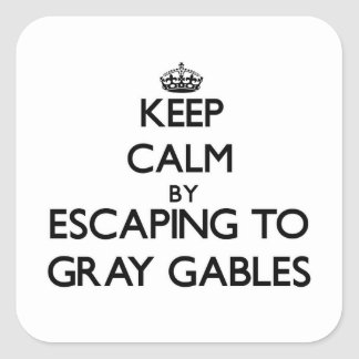 Keep calm by escaping to Gray Gables Massachusetts Square Sticker