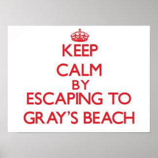 Keep calm by escaping to Gray S Beach Massachusett Print