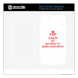 Keep calm by escaping to Green Sand Beach Hawaii Xperia Arc Skins