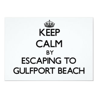 Keep calm by escaping to Gulfport Beach Mississipp Invites