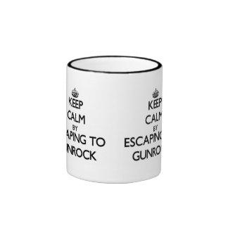 Keep calm by escaping to Gunrock Massachusetts Mug