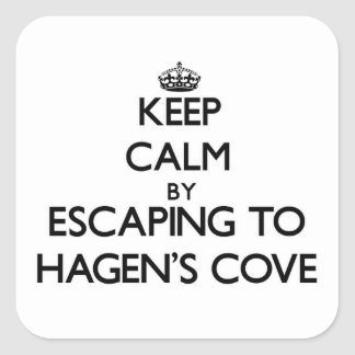Keep calm by escaping to Hagen'S Cove Florida Stickers