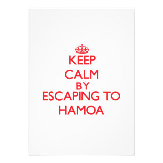 Keep calm by escaping to Hamoa Hawaii Personalized Announcements