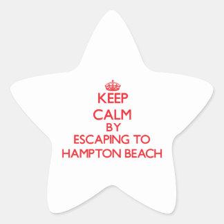 Keep calm by escaping to Hampton Beach New Hampshi Sticker