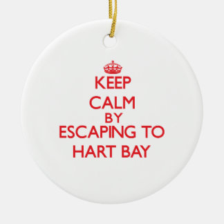 Keep calm by escaping to Hart Bay Virgin Islands Christmas Ornaments