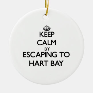 Keep calm by escaping to Hart Bay Virgin Islands Christmas Tree Ornaments