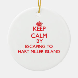 Keep calm by escaping to Hart Miller Island Maryla Christmas Tree Ornament