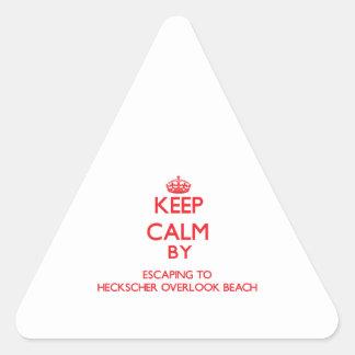 Keep calm by escaping to Heckscher Overlook Beach Triangle Sticker