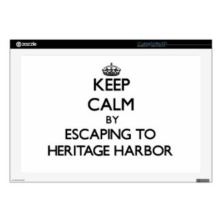 Keep calm by escaping to Heritage Harbor Californi Skins For Laptops