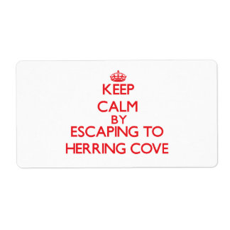 Keep calm by escaping to Herring Cove Massachusett Personalized Shipping Label