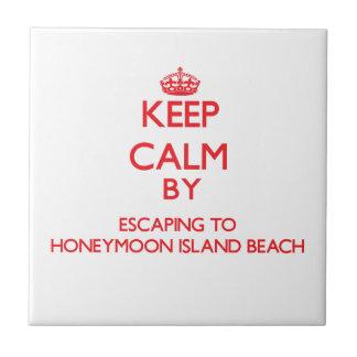 Keep calm by escaping to Honeymoon Island Beach Fl Ceramic Tiles