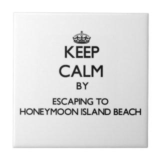 Keep calm by escaping to Honeymoon Island Beach Fl Ceramic Tile