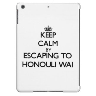 Keep calm by escaping to Honouli Wai Hawaii iPad Air Covers