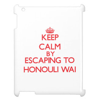 Keep calm by escaping to Honouli Wai Hawaii Case For The iPad