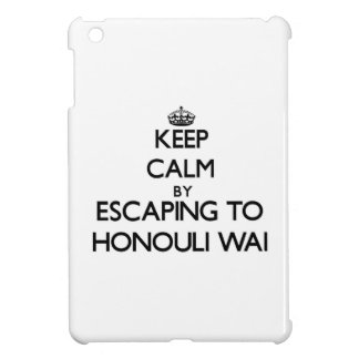 Keep calm by escaping to Honouli Wai Hawaii iPad Mini Case