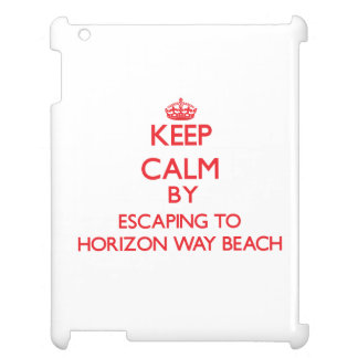 Keep calm by escaping to Horizon Way Beach Florida iPad Covers