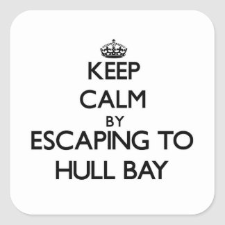 Keep calm by escaping to Hull Bay Virgin Islands Square Sticker