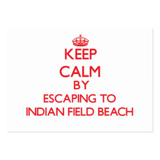 Keep calm by escaping to Indian Field Beach New Yo Business Card Template
