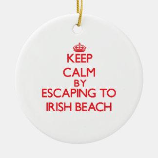 Keep calm by escaping to Irish Beach California Christmas Tree Ornaments