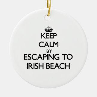 Keep calm by escaping to Irish Beach California Ornaments