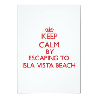 Keep calm by escaping to Isla Vista Beach Californ 5x7 Paper Invitation Card