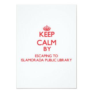"Keep calm by escaping to Islamorada Public Library 5"" X 7"" Invitation Card"
