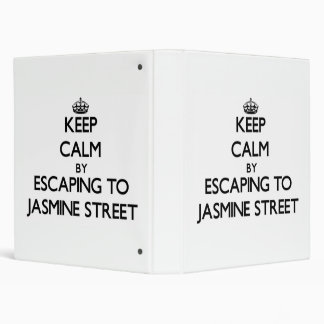 Keep calm by escaping to Jasmine Street Florida Binder