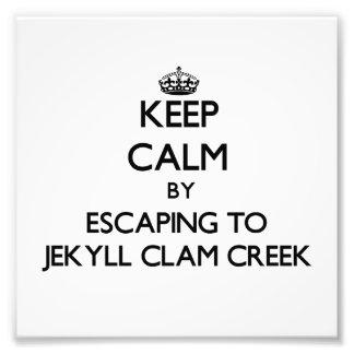 Keep calm by escaping to Jekyll Clam Creek Georgia Art Photo