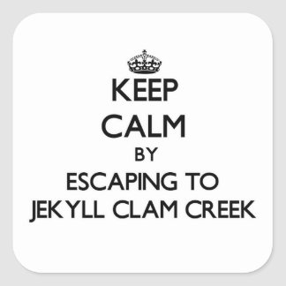 Keep calm by escaping to Jekyll Clam Creek Georgia Sticker