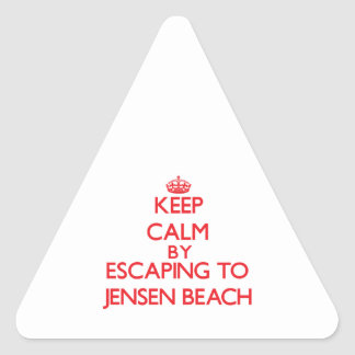 Keep calm by escaping to Jensen Beach Florida Triangle Sticker