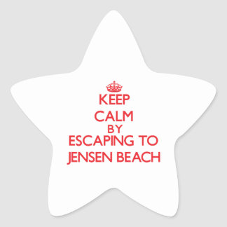 Keep calm by escaping to Jensen Beach Florida Star Stickers