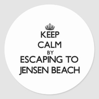 Keep calm by escaping to Jensen Beach Florida Stickers