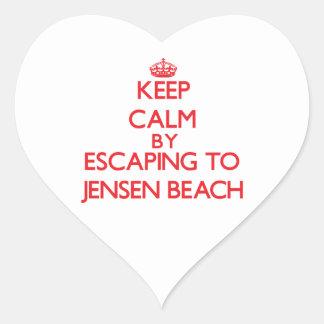 Keep calm by escaping to Jensen Beach Florida Sticker