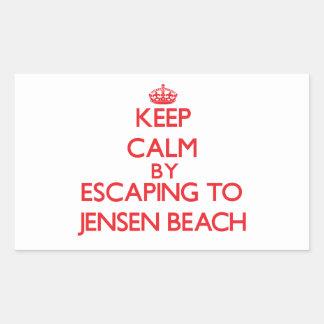 Keep calm by escaping to Jensen Beach Florida Rectangular Sticker