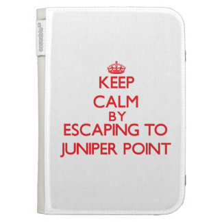 Keep calm by escaping to Juniper Point Massachuset Kindle 3G Covers