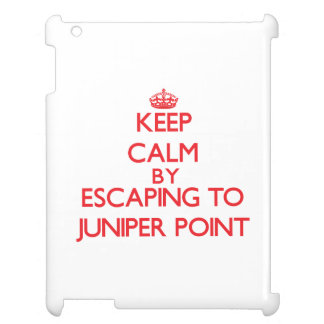 Keep calm by escaping to Juniper Point Massachuset iPad Cases