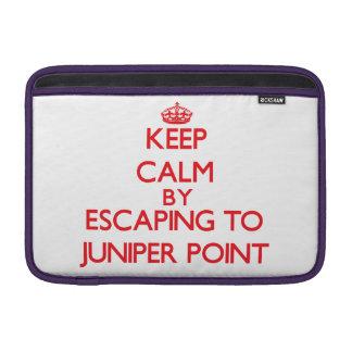 Keep calm by escaping to Juniper Point Massachuset MacBook Air Sleeve
