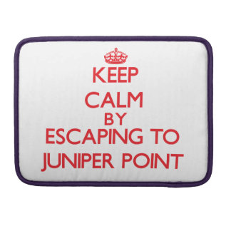 Keep calm by escaping to Juniper Point Massachuset MacBook Pro Sleeves
