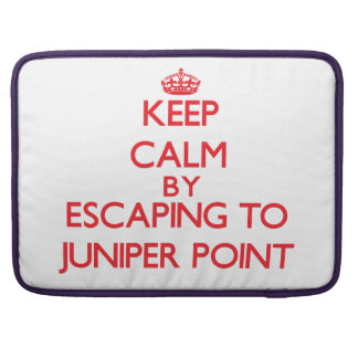 Keep calm by escaping to Juniper Point Massachuset Sleeves For MacBook Pro