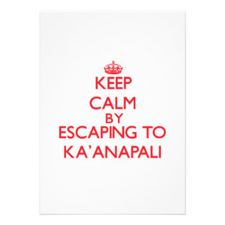 Keep calm by escaping to Ka'Anapali Hawaii Cards