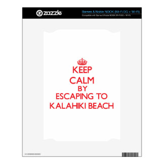 Keep calm by escaping to Kalahiki Beach Hawaii Decals For The NOOK