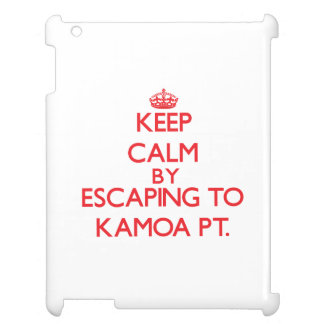 Keep calm by escaping to Kamoa Pt. Hawaii iPad Case