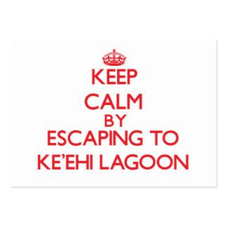 Keep calm by escaping to Ke Ehi Lagoon Hawaii Business Card Templates