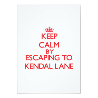 Keep calm by escaping to Kendal Lane Massachusetts Personalized Invitations