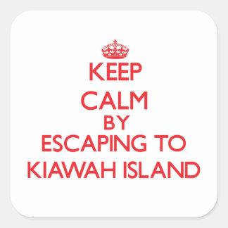 Keep calm by escaping to Kiawah Island South Carol Square Sticker