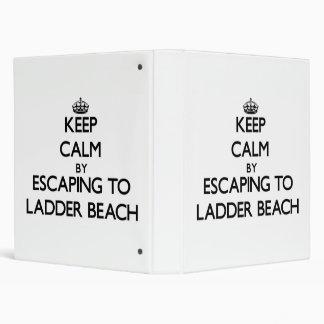 Keep calm by escaping to Ladder Beach Northern Mar Vinyl Binder
