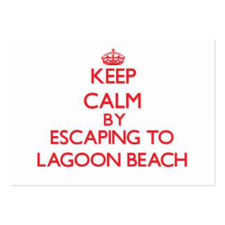 Keep calm by escaping to Lagoon Beach Maine Business Cards